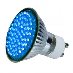 Ampoule colorée 72 leds GU10 Bleue