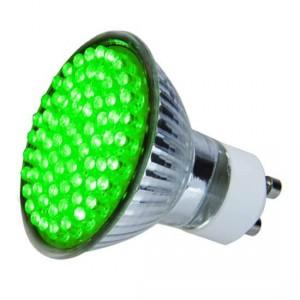 Ampoule colorée 72 leds GU10 Verte