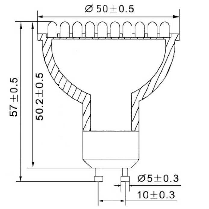 Dimention-GU10-84LED-3MM