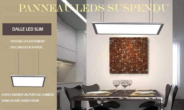 panneau lumineux led suspendu 80 watts 300 x 1200 mm. Black Bedroom Furniture Sets. Home Design Ideas