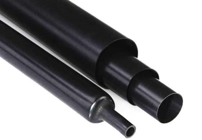 Tube thermorétractable Noir
