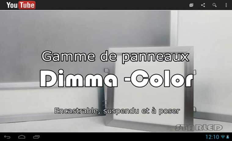 Lien Panneau Dimma Color youtube starled