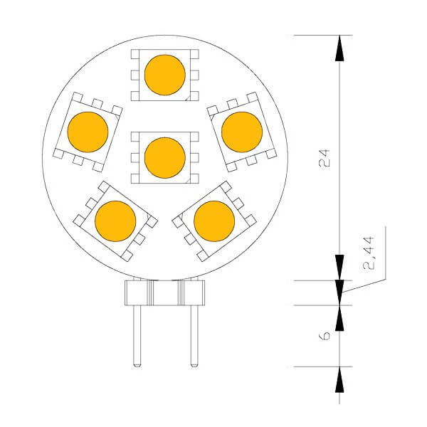 Ampoule 6 leds type 5050 smd 10 15 volts culot g4 - Different type d ampoule ...