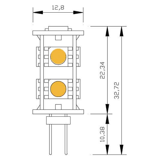 Ampoule 9 leds type 5050 smd 12 volts culot g4 - Different type d ampoule ...