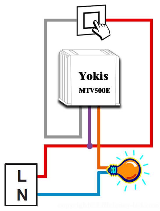Télévariateur-Encastré-Yokis-MTV500E