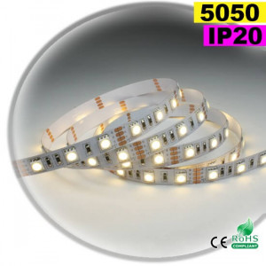 Strip Led blanc SMD 5050 IP20 60leds/m 1m