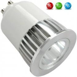 Ampoule LED GU10 RVB 5 Watts + télécommande IR