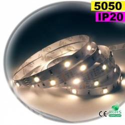 Strip Led blanc chaud SMD 5050 IP20 30leds/m 30m