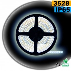 Strip Led blanc SMD 3528 IP65 120leds/m 30 mètres