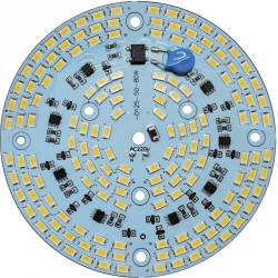 Platine AC LED 80 watts à alimentation transistorisé 230V - 156 LED 5730 - Ø 124 mm
