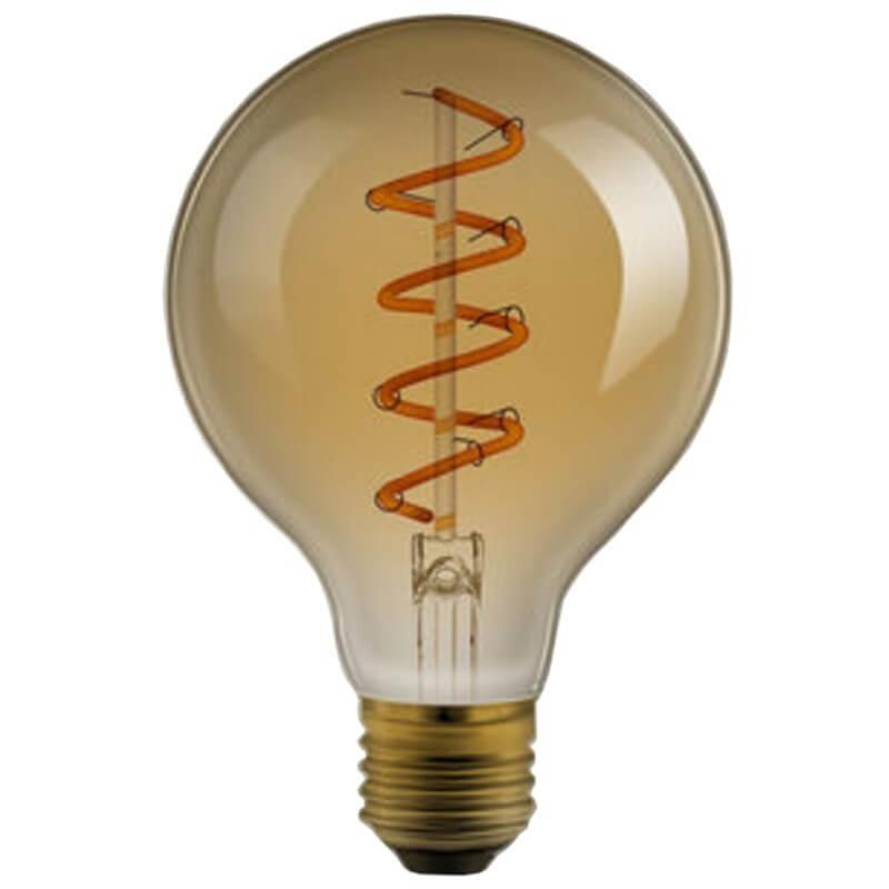 ampoule sph rique globe filament led twisted g95 4w e27. Black Bedroom Furniture Sets. Home Design Ideas