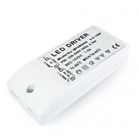 Alimentation LED transformateur 18 watts - 12 Volts
