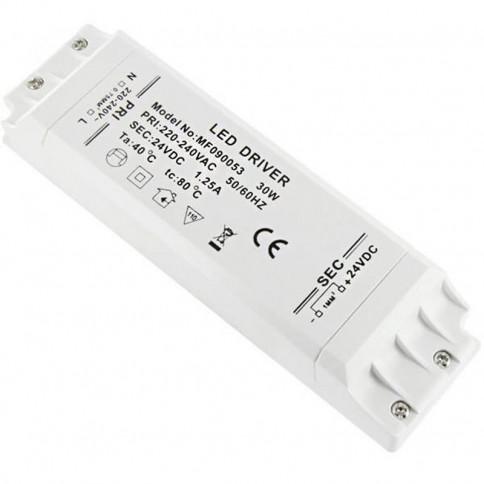 Alimentation LED transformateur compacte de 30 watts - 24 Volts