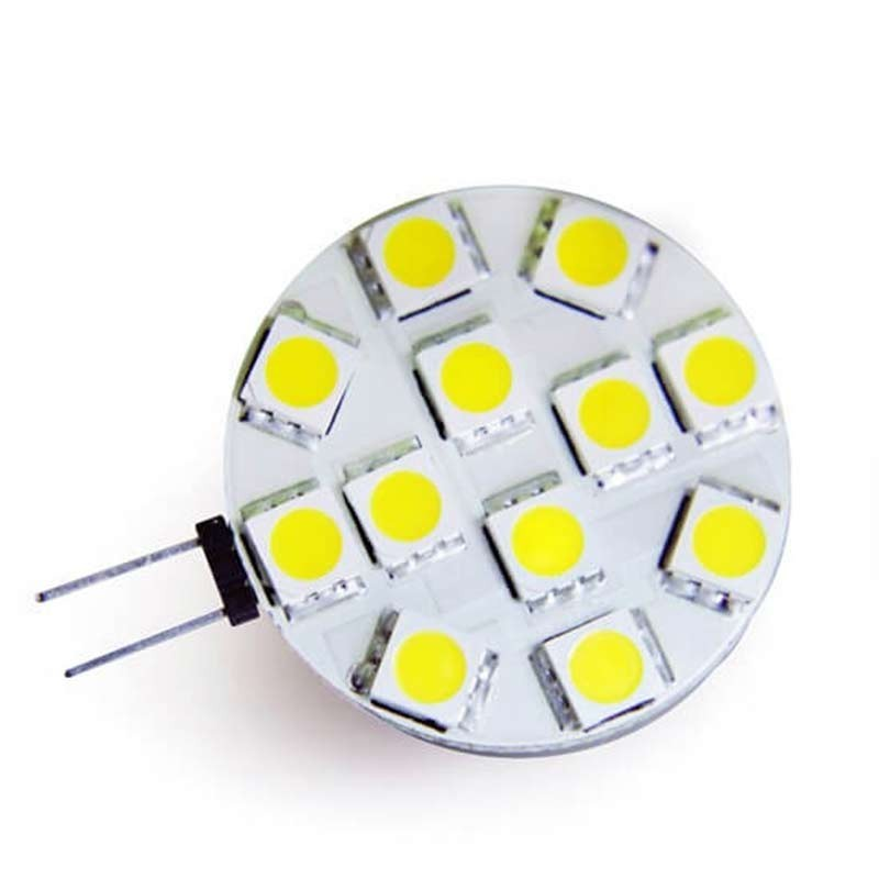 Ampoule 12 led type 5050 smd 12 volts culot g4 - Ampoule led 12 volts ...