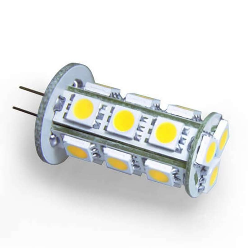Ampoule 18 led type 5050 smd 12 volts culot g4 - Ampoule led 12 volts ...