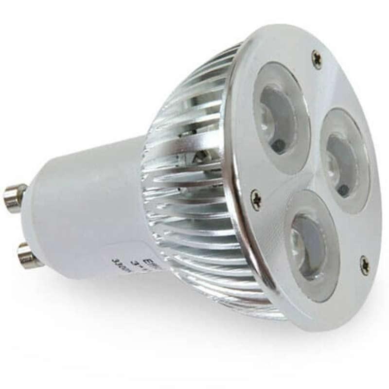 ampoule led gu10 high power 3 watts. Black Bedroom Furniture Sets. Home Design Ideas