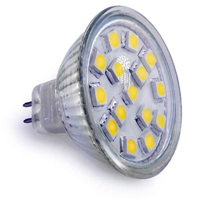 Les ampoules led mr16 15 smd 5050 culot mr16 gu5 3 2 5 watts - Ampoule led 12 volts ...