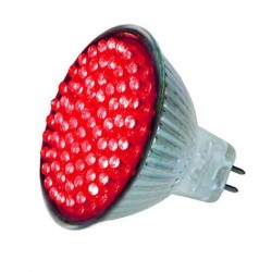 Ampoule colorée 72 leds MR16 Rouge