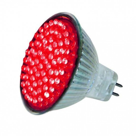 Ampoule colorée 72 leds MR16 Rouge