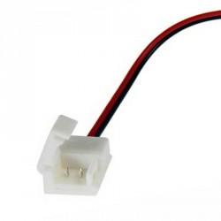 Un boitier de raccordement Clips-Grip connect sur câbles pour Strips LED IP65 unicolore 8mm