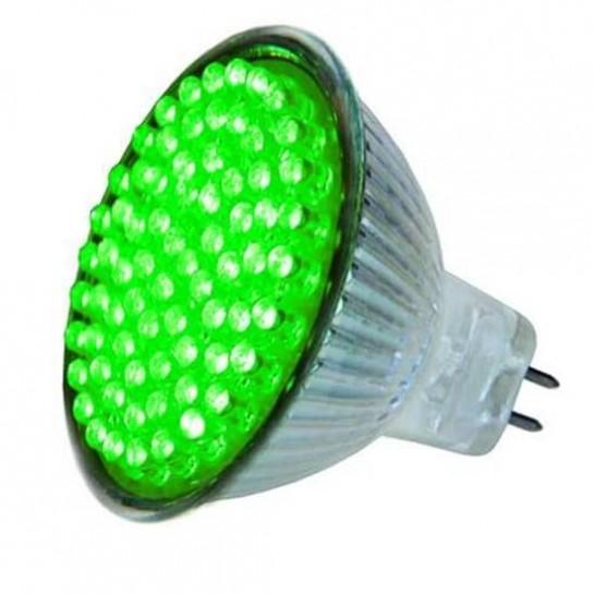 Ampoule colorée 72 leds MR16 Vert