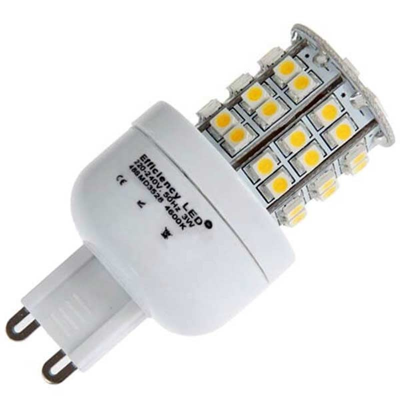 ampoule 48 led type 3528 smd 230 volts culot g9. Black Bedroom Furniture Sets. Home Design Ideas