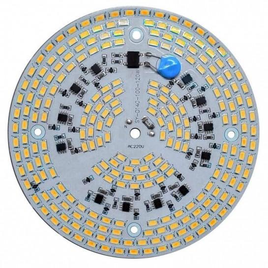 Platine AC LED 120 watts à alimentation transistorisé 230V - 234 LEDs 5730 - Ø 124 mm