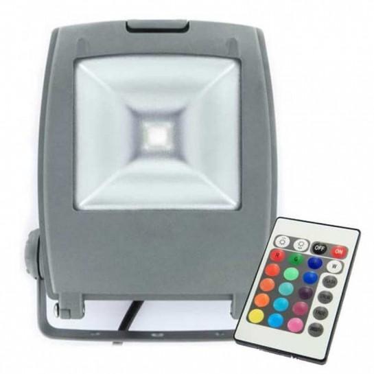 Projecteur LED ultra compact RVB 10 Watts + télécommande IR