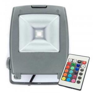 Projecteur LED ultra compact RVB 21 Watts + télécommande IR