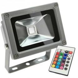 Projecteur LED standard RVB 10 Watts + télécommande IR