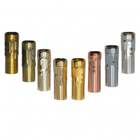 Fausse bougie D24 en métal pour lustre longueur 80mm