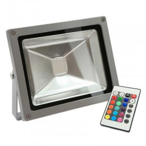 Projecteur LED standard RVB 20 Watts + télécommande IR