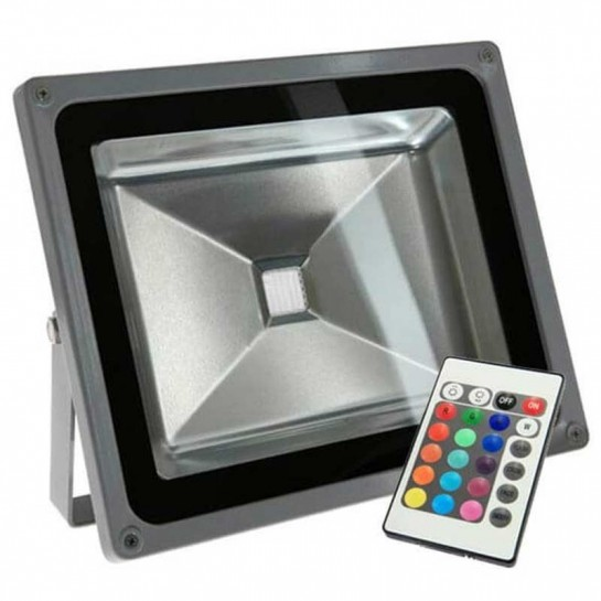 Projecteur LED standard RVB 50 Watts + télécommande IR