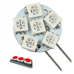 Ampoule 360° 20 leds SMD 11 à 24 volts G4 Rouge