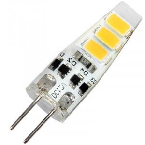 Ampoule Piccoled SMD six LED 5630 à culot G4 - 2 watts en 12 Volts