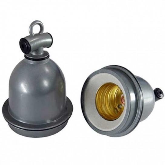 Douille E40 pour lampe industrielle avec anneau de suspension