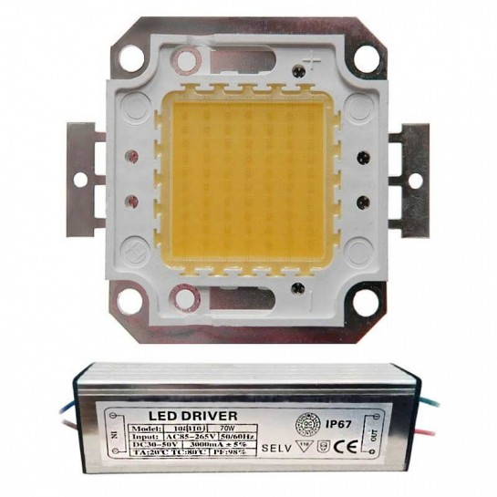LED Matriciel Chip on board de 70 watts
