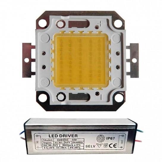 LED Matriciel Chip on board de 50 watts