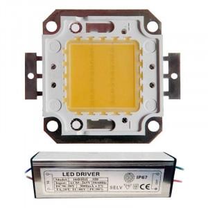 LED Matriciel Chip on board de 30 watts
