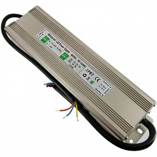 Transformateur 12 volts - sortie unique de 200 watts IP67