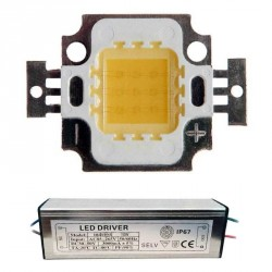 Lot Alimenation + LED Matriciel Chip on board de 10 watts