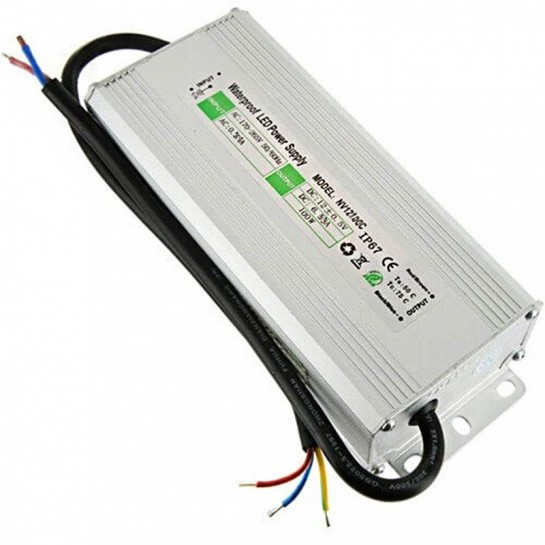 Transformateur 12 volts - sortie unique de 100 watts IP67