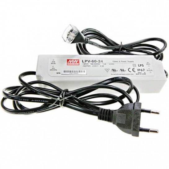 Alimentation Mean Well 60 watts pour réglette Clip LED