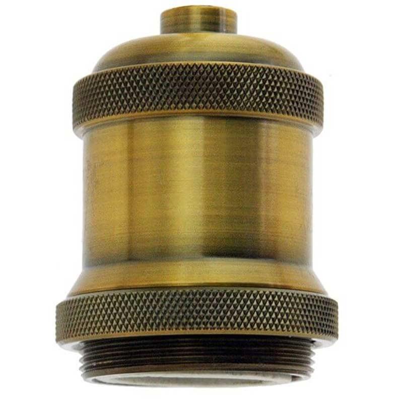 Douille e27 design vintage en bronze bague filet e courte - Douille de chantier e27 ...