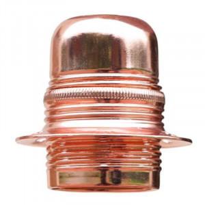 Douille à vis E27 en acier finition chromé cuivre