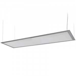 Panneau lumineux LEDs suspendu par câbles 50 watts 300 x 1200 mm
