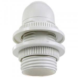 Douille plastique à double bagues de serrages pour ampoule à culot E14