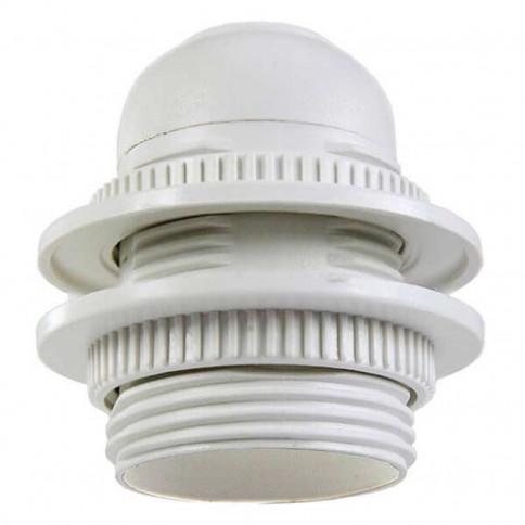 Douille plastique à double bagues de serrages pour ampoule à culot E27