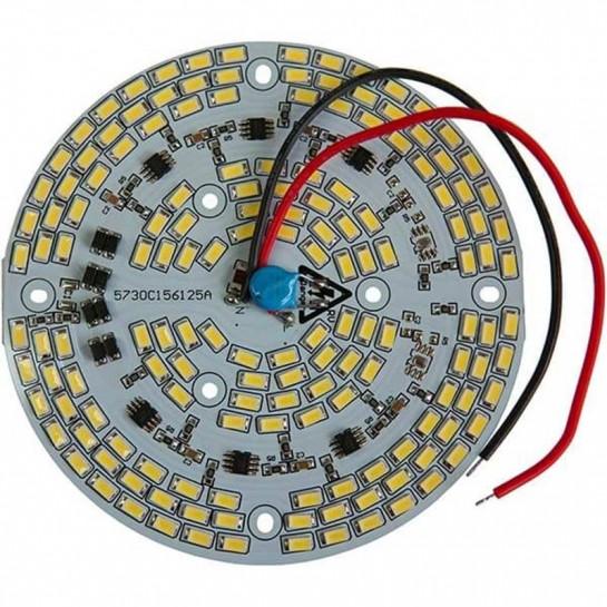 Platine AC LED 60 watts à alimentation transistorisé 230V - 156 LEDs 5730 - Ø 124 mm