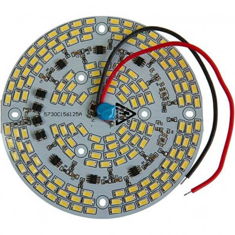 Platine AC LED 60 watts à alimentation transistorisé 230V - 156 LED 5730 - Ø 124 mm